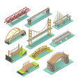 bridges isometric set vector image vector image