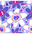 bright seamless lilac pattern from vector image vector image