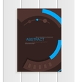 brochure in abstract style with blue shapes vector image vector image