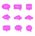 bubble speak set vector image