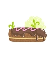 Classic Chocolate Eclair Sweet Pastry Fantasy vector image vector image