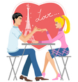 Couple in cafe vector image vector image