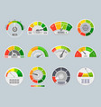 credit score indicators vector image