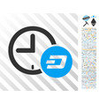 dash credit time flat icon with bonus vector image vector image