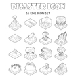 Disaster icons set outline style vector image vector image