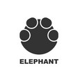 elephant footprint logo paw print vector image vector image