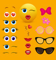 emoji creator design collection vector image vector image