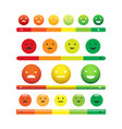 emotional feedback scale vector image
