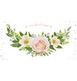 flower wreath bouquet design object element vector image vector image