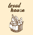 fresh bread basket vector image