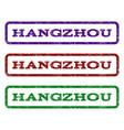 hangzhou watermark stamp vector image vector image
