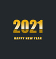 happy new year 2021 with gradient text vector image