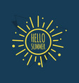 hello summer template design vector image