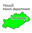 Herault french department map vector image vector image