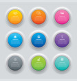 infographics circle button with 9 data template vector image
