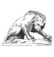 lion tuileries is a statue of a lion found in a vector image vector image