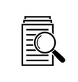 magnifying glass icon search documents sign vector image vector image