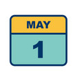 may 1st date on a single day calendar