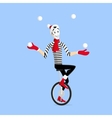 Mime performance vector image vector image