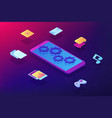 mobile content isometric 3d concept vector image vector image