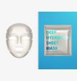 moisturizing sheet face mask realistic vector image