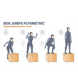 muslim woman doing box jumps exercise vector image