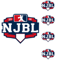 njbl logo can easliy remove year vector image vector image