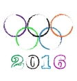 olympic rings rio vector image vector image