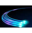Optical Fibers vector image vector image