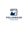 polar bear logo icon vector image vector image
