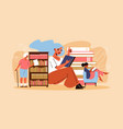 reading book flat vector image vector image