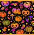 seamless pattern of bright multicolored halloween vector image