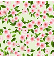seamless texture of blossom cherry vector image