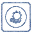 service fabric textured icon vector image vector image