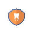 shield logotype clean tooth protect sign guard vector image