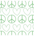 silhouette hippie peace and love symbol design vector image