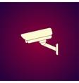 silhouette of surveillance vector image