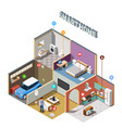 smart home iot isometric composition vector image