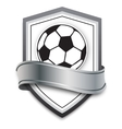 soccer ball on silver background vector image