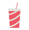 soda cup icon flat style vector image