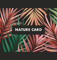 sprint paln rainforest jungle background colorful vector image vector image