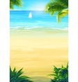 Summer beach and sea boat vector image