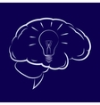 Symbol of the light bulb inside human brain vector image