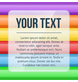 text block over multicolored background template vector image vector image