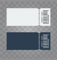 ticket template design trendy blank ticket vector image