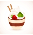 Tiramisu creamy dessert in cup vector image vector image