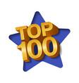 top 100 hundred golden words vector image vector image
