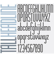 Triple Stripes Tall Headline retro style light vector image vector image