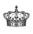 vintage template ornate royal crown vector image