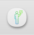 voter app icon vector image